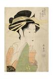 Tsukasa Dayu of Higashi Ogiya in Osaka's Shinmachi District, C. 1800 Giclee Print by Eishosai Choki