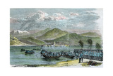 The War, Austrians Crossing the Lago Maggiore, Italy, C1875 Giclee Print by Morgan Morgan