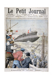 Launch of the French Battleship 'Patrie, Toulon, December 1903 Giclee Print