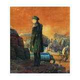 Admiral Pavel Nakhimov on the Bastion, 1855 Giclee Print by Vasily Timm