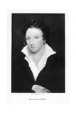 Percy Bysshe Shelley, English Romantic Poet, 19th Century Giclee Print by George Clint
