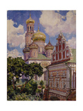 Clouds and Golden Domes, the Simonov Monastery, 1927 Giclee Print by Appolinari Mikhaylovich Vasnetsov
