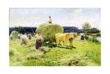 Hay-Making, 1907 Giclee Print by Nikolai Kornilovich Pimonenko