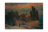Villa by the Sea Giclee Print by Arnold Böcklin