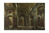 Interior of the Basilica of Saint Peter in Rome, before 1742 Giclee Print