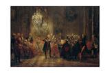 Flute Concert with Frederick the Great in Sanssouci, 1850-1852 Gicléedruk van Adolph Friedrich von Menzel