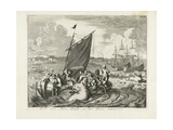 Tthe Voyage to Novaya Zemlya in 1596, 1679-1681 Giclee Print by Jan Luyken