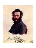 Portrait of Decembrist Ivan Horbachevsky (1800-186), 1837 Giclee Print by Nikolai Alexandrovich Bestuzhev