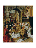 The Mass of Saint Gregory the Great, Ca 1510-1520 Giclee Print by Adriaen Isenbrant