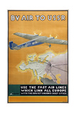 By Air to USSR (Poster of the Intourist Compan), 1934 Giclee Print by Konstantin Bor-Ramensky