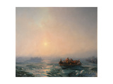 Ice Drifting on the Dnieper River, 1872 Giclee Print by Ivan Konstantinovich Aivazovsky