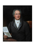 Portrait of the Author Johann Wolfgang Von Goethe (1749-183), 1828 Giclee Print by Joseph Karl Stieler