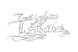 Signature of Queen Elizabeth I, 1558-1603 Giclee Print