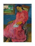Faaturuma (Melancholi), 1891 ジクレープリント : ポール・ゴーギャン
