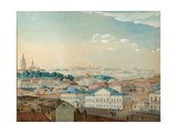 Viewof the Kazan University from the Bolaq, 1842 Giclee Print by Andrei Nikolayevich Rakovich