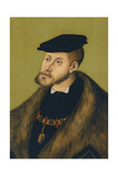 Portrait of the Emperor Charles V (1500-155), 1533 Giclee Print