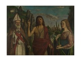 Saint Zeno, Saint John the Baptist and a Female Martyr, C. 1495 Giclee Print by Bartolomeo Montagna
