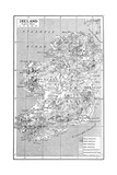 Map of Ireland, C1930S Giclee Print