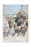 The Large Annual Caravans Heading North, Gourara, Algeria, 1903 Giclee Print