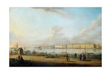 View of the Winter Palace of the Vasilyevsky Island, 1796 Giclee Print by Johann Georg Von Mayr