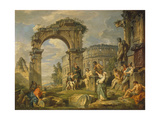 Cumaean Sibyl Prophesied the Birth of Christ, 1743 Giclee Print by Giovanni Paolo Panini