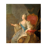 Portrait of Empress Catherine II (1729-179), 1763 Giclee Print by Fyodor Stepanovich Rokotov