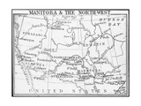 Map of Manitoba and the Northwest, Canada, C1893 Giclee Print by  George Philip & Son