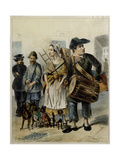 A Servant Take the Dogs Out, 1843 Giclee Print by Rudolf Kasimirovich Zhukovsky