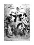 Jules Verne (1828-190) Autour De La Lune, 1865 Giclee Print