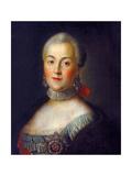 Portrait of Grand Duchess Catherine Alekseyevna, 1760 Giclee Print by Alexei Petrovich Antropov
