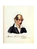 Portrait of Decembrist Mikhail Kuechelbecker (1798-185), 1831 Giclee Print by Nikolai Alexandrovich Bestuzhev
