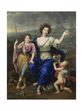 The Marquise De Seignelay and Two of Her Sons, 1691 Giclee Print by Pierre Mignard