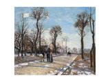 Route De Versailles, Louveciennes, Winter Sun and Snow, C. 1870 Reproduction procédé giclée par Camille Pissarro