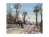 Route De Versailles, Louveciennes, Winter Sun and Snow, C. 1870 Giclee Print by Camille Pissarro