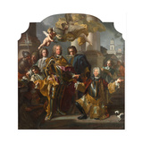 Emperor Charles VI and Count Gundacker Von Althan, 1728 Giclée-tryk af Francesco Solimena