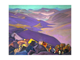 Mongolia. Genghis Khan's Campaign, 1937-1938 Giclee Print by Nicholas Roerich