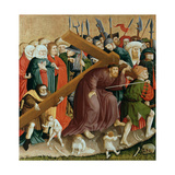 Christ Carrying the Cross. the Wings of the Wurzach Altar, 1437 Giclee Print by Hans Multscher