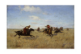 Fight Between Dnieper Cossacks and Tatars, 1892 Giclee Print by Sergei Ivanovich Vasilkovsky