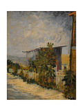 Shed at the Montmartre with Sunflower, 1887 Giclee Print