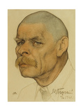 Portrait of the Author Maxim Gorky (1868-193), 1921 Giclee Print by Nikolai Andreevich Andreev