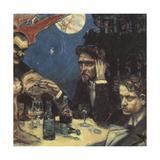 The Symposium, (Stud) Right Jean Sibelius, 1894 Giclee Print by Akseli Gallen-Kallela