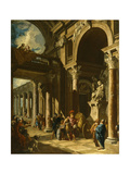 Alexander the Great Cutting the Gordian Knot, Ca. 1718-1719 Giclee Print by Giovanni Paolo Panini