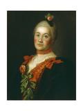 Portrait of Countess Tatyana Alexeyevna Trubetskaya, 1761 Giclee Print by Alexei Petrovich Antropov