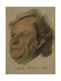 Portrait of Martin Andersen Nexo (1869-195), 1922 Giclee Print by Nikolai Andreevich Andreev