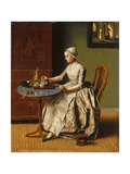A Lady Pouring Chocolate (La Chocolatièr), C. 1745 Giclee Print by Jean-Étienne Liotard