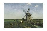 Landscape with Windmill Near Schiedam, 1873 Giclee Print by Hendrik Johannes Weissenbruch
