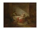 Interior Scene. the Happy Mother, Second Half of the 18th C Reproduction procédé giclée par Jean-Honoré Fragonard