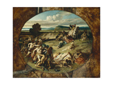 The Battle of the Amazons, 1857 Giclee Print by Anselm Feuerbach