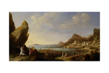 Coastal Landscape with Balaam and the Ass, 1634 Giclee Print by Bartholomeus Breenbergh