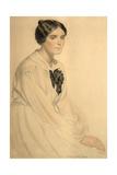 Portrait of Ksenia Nikolayevna Semenova (Skalov), 1920 Giclee Print by Boris Michaylovich Kustodiev